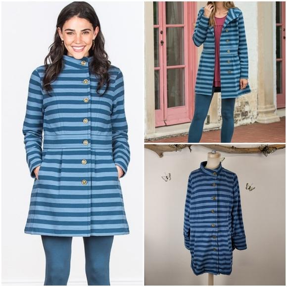 Matilda jane fall breeze blue striped jacket